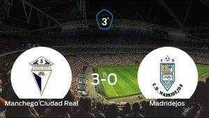 El Ciudad Real se queda con los tres puntos ante el Madridejos (3-0)