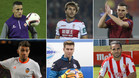 Cristian Tello, Sergi Samper Thomas Vermaelen, Munir El Haddadi, Adrián Ortolà y Douglas Pereira