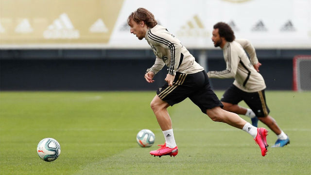 Cuarto entrenamiento semanal del Real Madrid