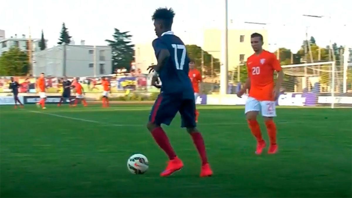 Diakiese jugó con la sub-20 de Francia