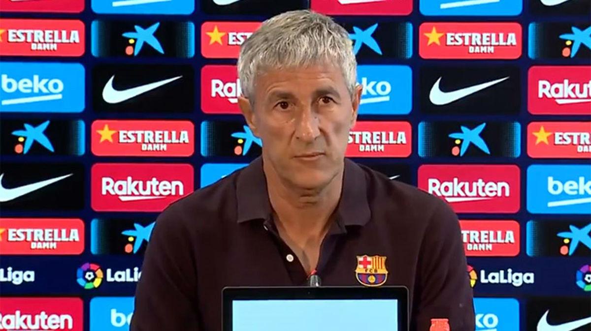 En directo la rueda de prensa de Quique Setién previa al Espanyol