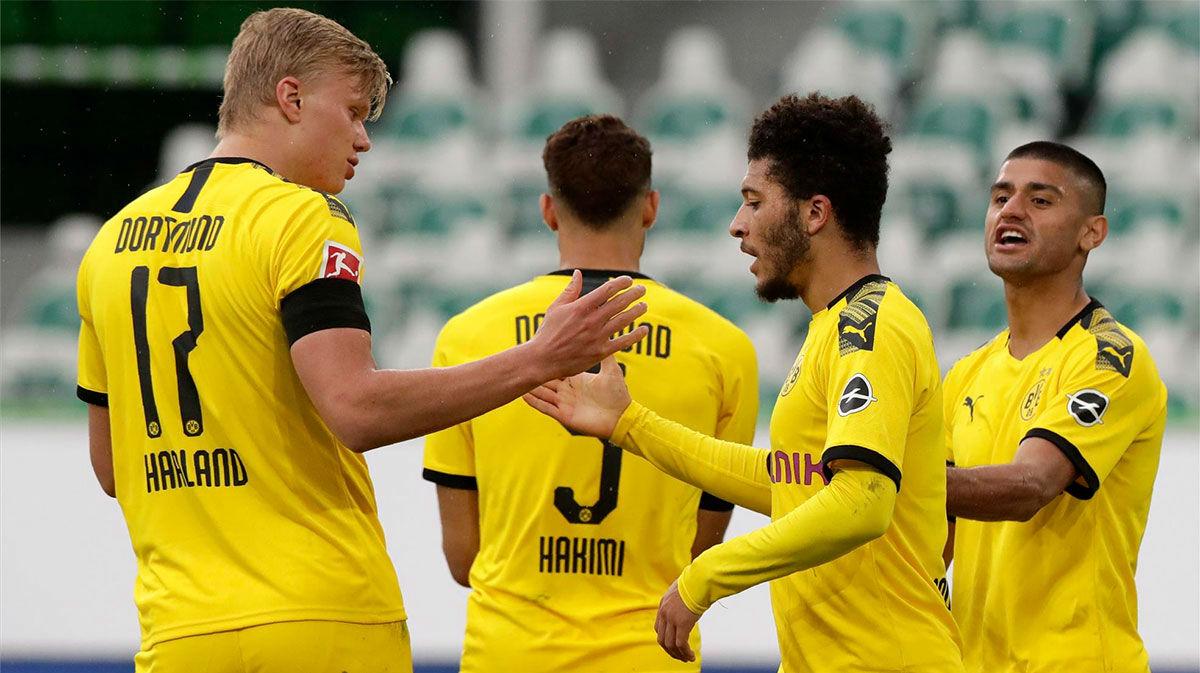 El Dortmund se impone en casa del Wolfsburg