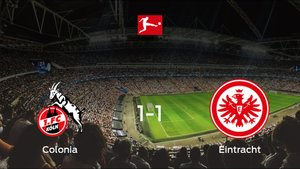 El Eintracht Frankfurt consigue un empate a uno frente al Colonia