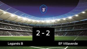 Empate, 2-2, entre el Leganés B y el Villaverde