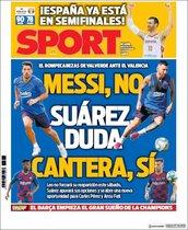 Esta es la portada de Sport de este 11 de septiembre