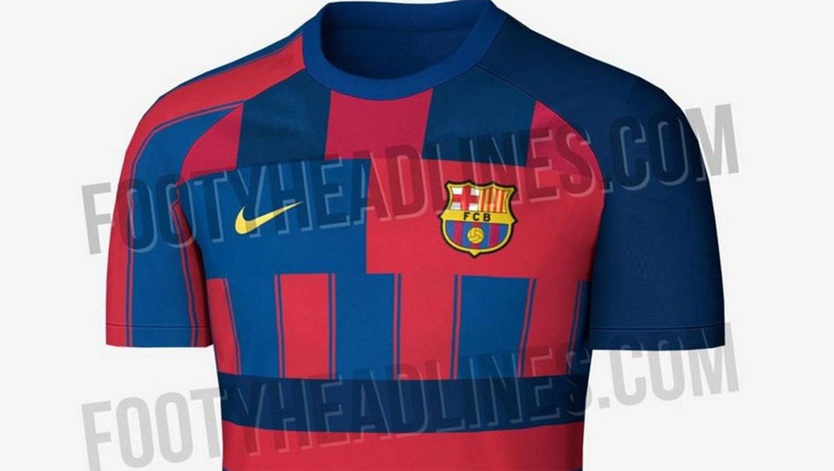 2d77acf5d On Sunday afternoon Footy Headlines released pictures of a shirt which  purported to be Barcelona s for the 2019-20 season.