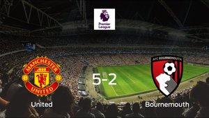 Goleada del Manchester United frente al Bournemouth (5-2)