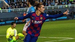 Griezmann anotó los dos goles del FC Barcelona en Can Misses