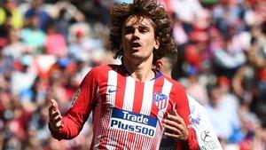 Grizmann, titular en su despedida del Atlético