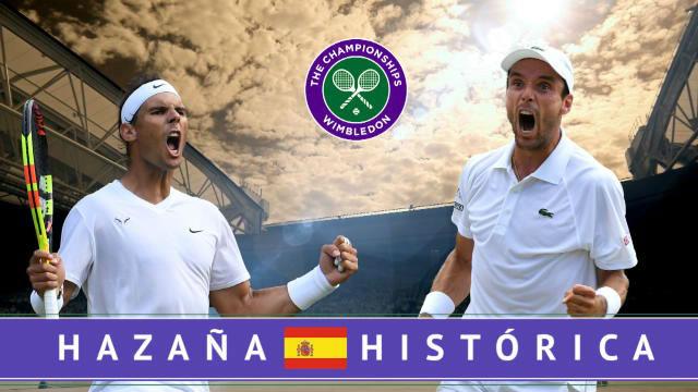 Hazaña histórica: Nadal y Roberto Bautista a un paso de la final de Wimbledon