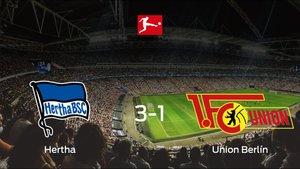 El Hertha BSC consigue la victoria en casa ante el Union Berlín (3-1)