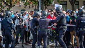 Imagen de la concetración esta tarde en Logroño