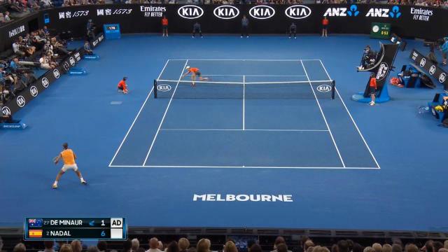 Impresionante punto de Nadal en el Open de Australia