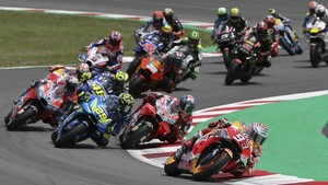 Inicio de la carrera de MotoGP en Montmeló de esta temporada