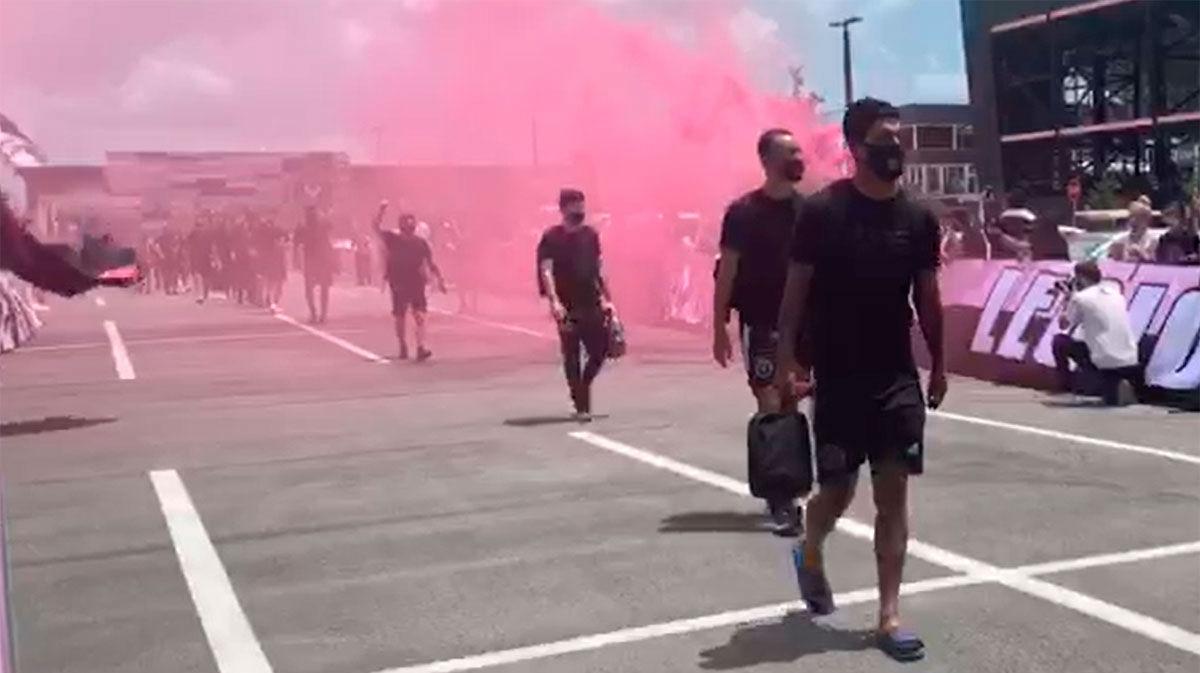 El Inter Miami despide a sus jugadores antes de poner a rumbo a Orlando