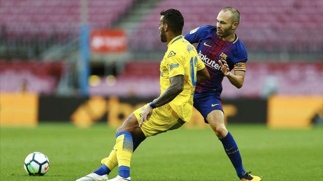 LALIGA | Barça-UD Las Palmas (3-0): La lesión de Iniesta que obligó su cambio