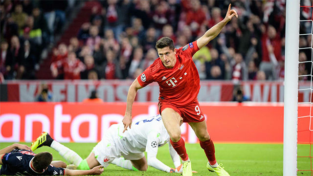 Lewandowski aprovechó un fallo defensivo del Estrella Roja para adelantar al Bayern