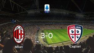 Los tres puntos se quedan en casa: goleada del AC Milan al Cagliari (3-0)