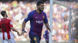 Luis Suárez estuvo negado ante el gol ante el Athletic. Y eso que el uruguayo dispuso de varias ocasiones...
