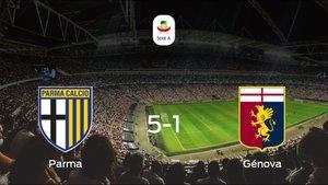El Parma se queda con los tres puntos frente al Génova (5-1)