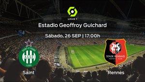 Previa del encuentro: el AS Saint Etienne defiende el liderato ante el Stade Rennes