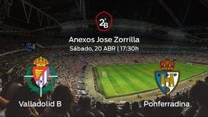 Previa del partido: enfrentamiento en el Anexos Jose Zorrilla: Valladolid B - Ponferradina