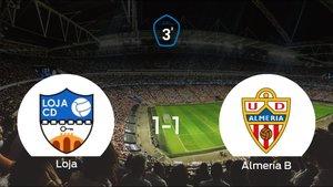Un punto para cada uno en el Loja-Almería B (1-1)