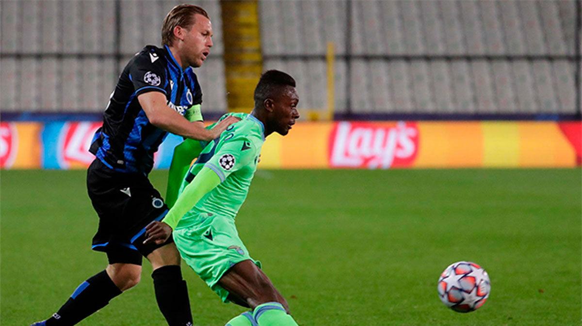 El resumen del empate entre el Brujas y la Lazio