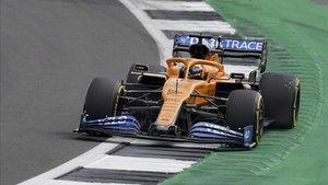 Sainz, enfadado tras la carrera.