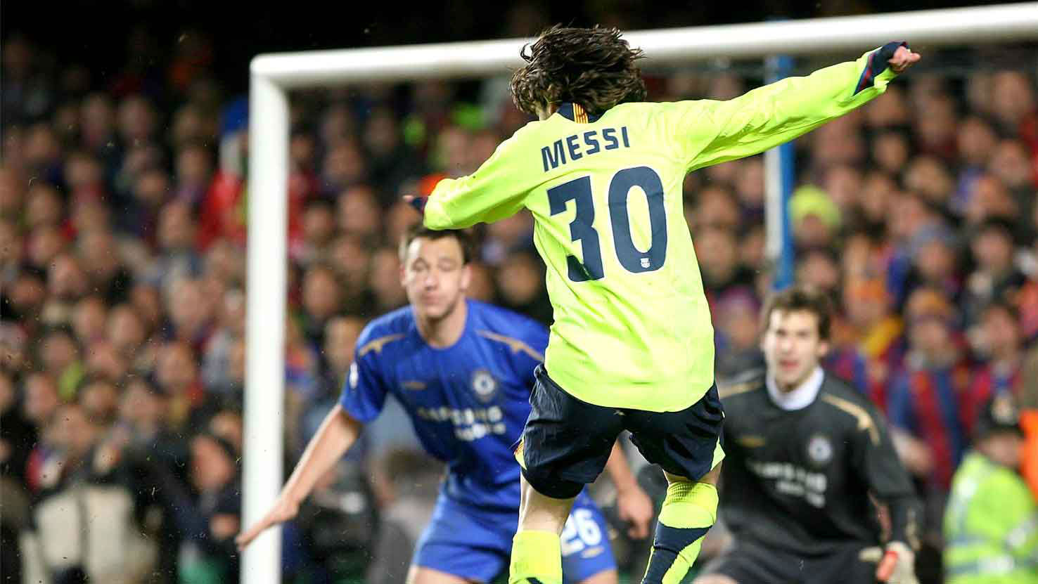 El show de Messi contra el Chelsea en 2006