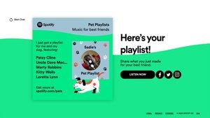 Spotify crea una lista de reproducción para tu compañero peludo