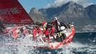 La tripulación del Mapfre español, en acción