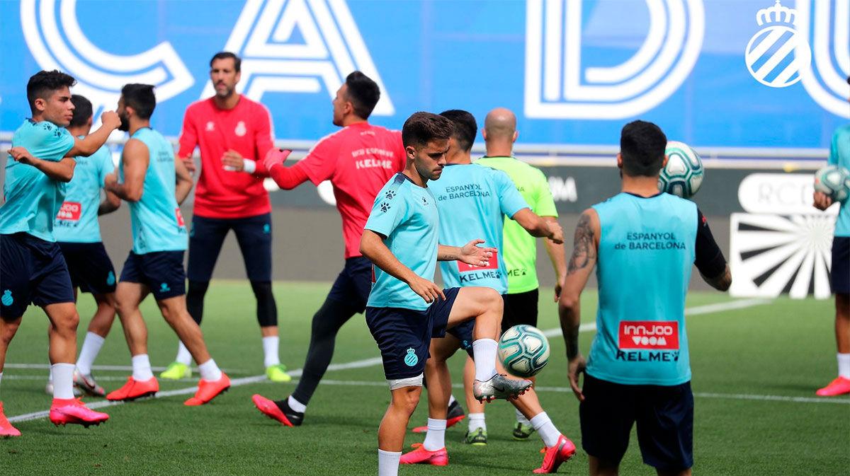 Último entrenamiento del Espanyol antes de medirse al Leganés