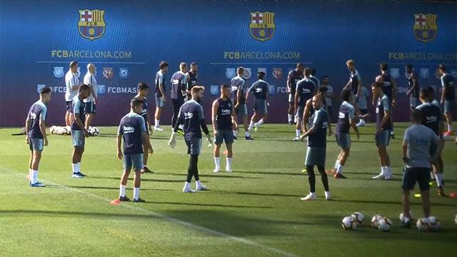 Últimos entrenamientos del Barça antes de viajar a EEUU