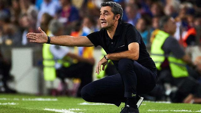 Valverde habló en zona mixta tras la goleada azulgrana