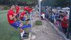 Varios aficionados del Girona no se perdieron una sesión histórica