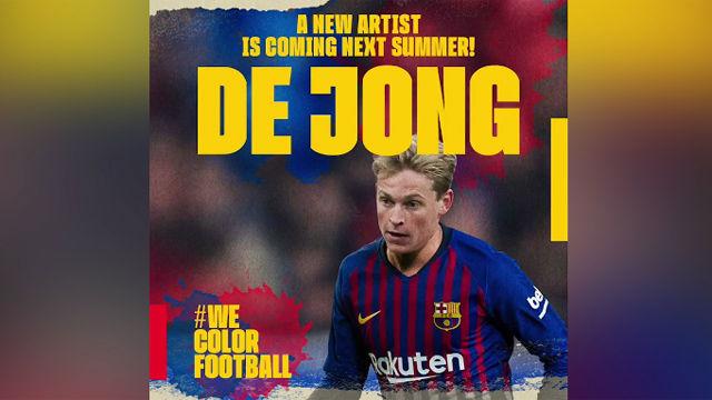 Así anunció el Barça el fichaje de De Jong