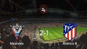 El Atlético B se queda fuera de los playoff tras perder 2-1 frente al Mirandés