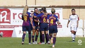 El Barça femenino sigue en su lucha particular con el Atlético por el liderato