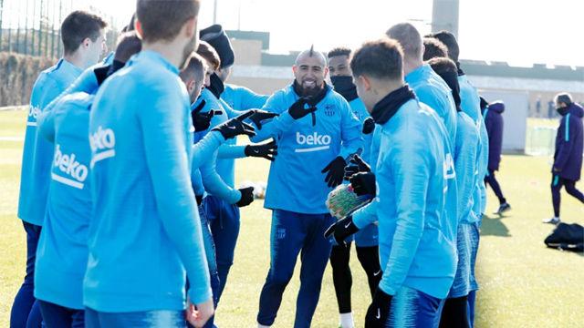 El Barça prepara el partido de Copa ante el Sevilla sin Dembélé