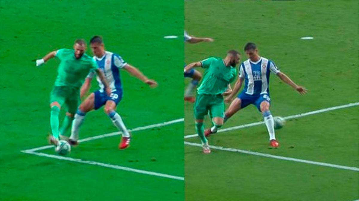 En bucle: así fue la asistencia de tacón de Benzema en el gol de Casemiro