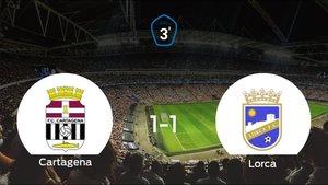 El Cartagena B y el Lorca logran un punto tras empatar a uno