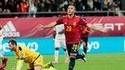 Cazorla celebra el segundo gol de España ante Malta