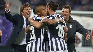 Conte y Arturo, en su etapa conjunta en la Juventus