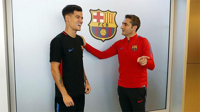 Coutinho conoció a Ernesto Valverde