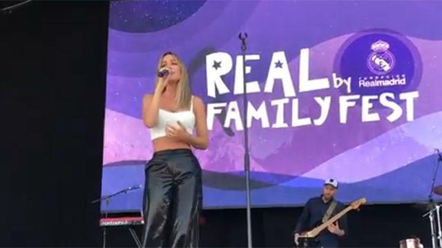 Edurne canta en el Real Family Fest