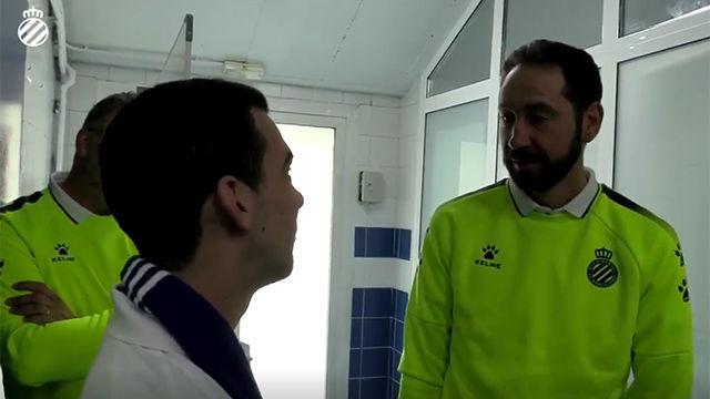 El emotivo día de Marc junto a Machín en la Ciudad Deportiva Dani Jarque