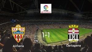 Empate a uno entre el Almería y el Cartagena