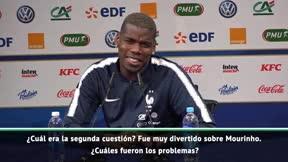 Enigmáticas risas de Pogba tras recordar la marcha de Mourinho