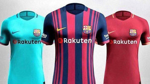 85beaf6150 How Barcelona's three kits for the 2017-18 season will look